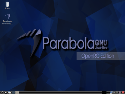 Parabola OpenRC/LXDE Edition screenshot